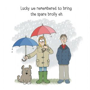 MTC18 - Brolly Priorities Funny Dog Card